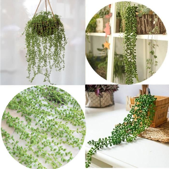 Wall Hanging Plastic Artificial Succulent Beads V …
