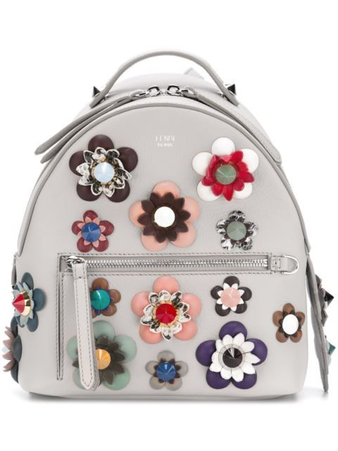 2a6c0955bde5 Shop Fendi mini flower appliqué backpack in Eraldo from the world s best  independent boutiques at farfetch.com. Shop 400 boutiques at one address.