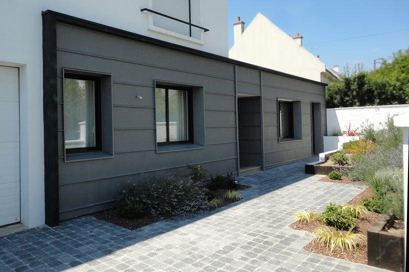 Photo de maison bardage zinc bardage pinterest bardage maison et photo de maison - Bardage de facade maison ...