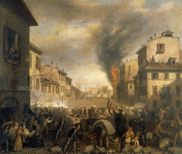 Foto di attualità : The Five Days of Milan, near Porta Tosa, March...