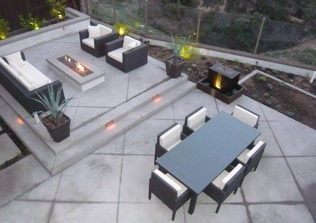 Pinterest & Back Patio Outdoor Living Concrete Backyard Landscaping Quality ...