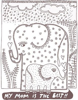 inspiration shrinky dinks too} three Pinterest Madhubani art - best of complex elephant coloring pages
