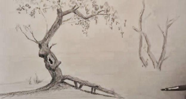 مدونة أرسم بالرصاص تعلم الرسم منظر طبيعي خطوة بخطوة Drawings Humanoid Sketch Art