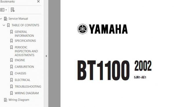 2002 2013 Yamaha Bt1100 Bulldog Workshop Repair Service Manual Repair Repair And Maintenance Pdf Download