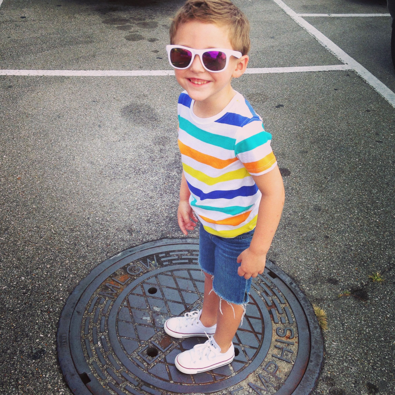 Little boy fashion trendy hip cool converse stripes fun