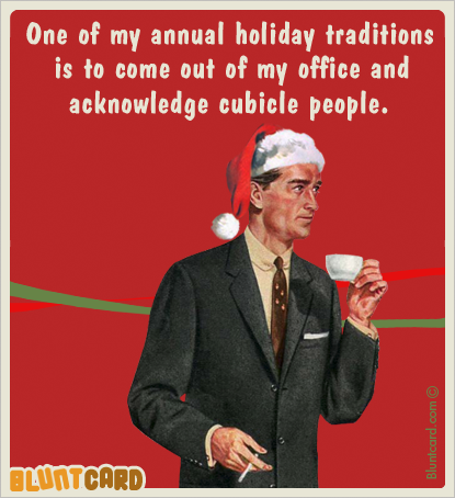 cubicle people Humor me Christmas vintage retro