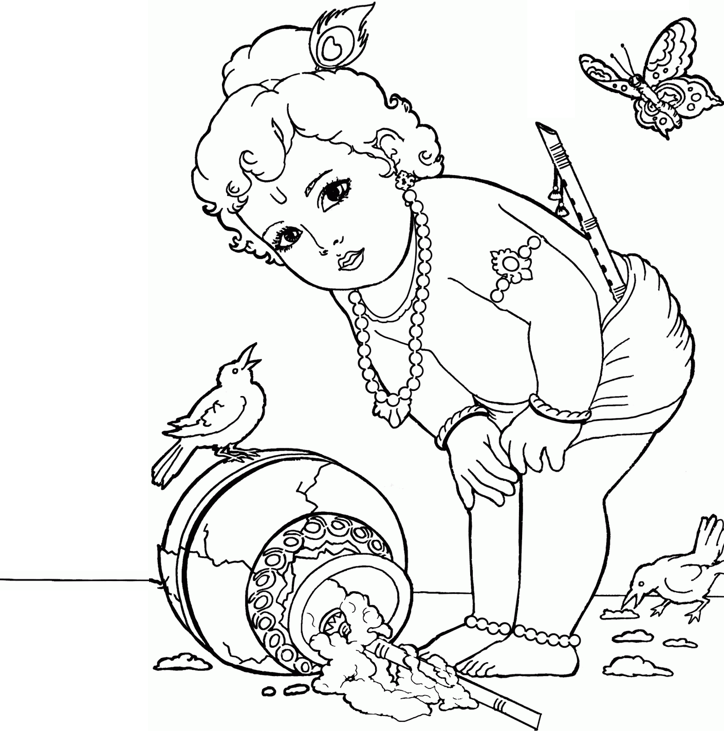 krishna images krishna lord and baby krishna on coloring krishna art - Baby Krishna Images Coloring Pages
