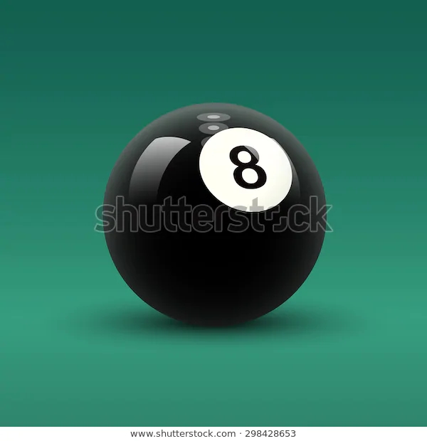 Billiard Ball Vector Isolated Solid Color Black Billiard Ball With Number 8 On Green Table Background Shutterstock Vector Billiards Billiard Balls Color