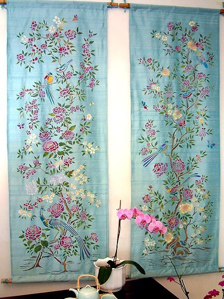 Curtains Ideas chinoiserie curtains : 17 Best images about Henny Donovan stencils on Pinterest | Flower ...