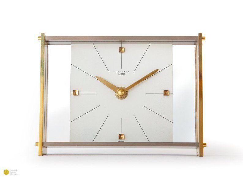 Lucent Mid Style Meister Desk Clock Junghans Bauhaus 76bgfyY