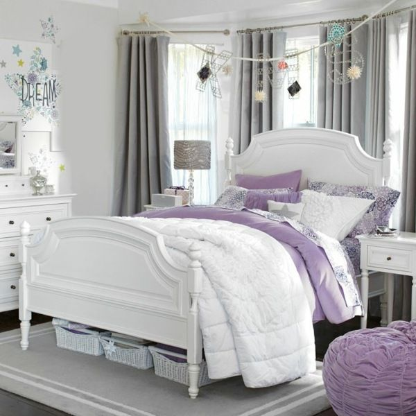 mädchen schlafzimmer-lila sitzsack design | kinderzimmer, Schlafzimmer design