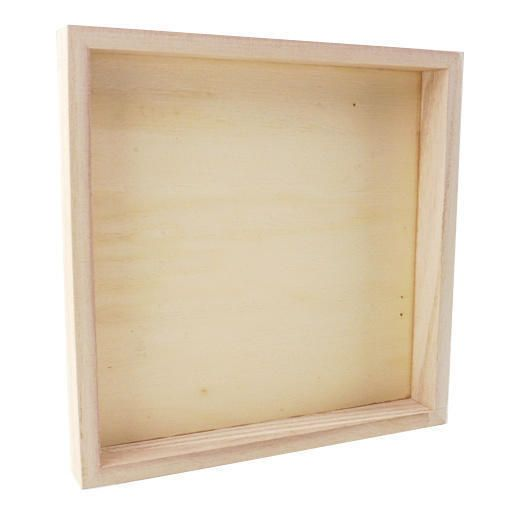 Bare Wood Shadow Box Frame - 20cm Square #8073 | Projects ...