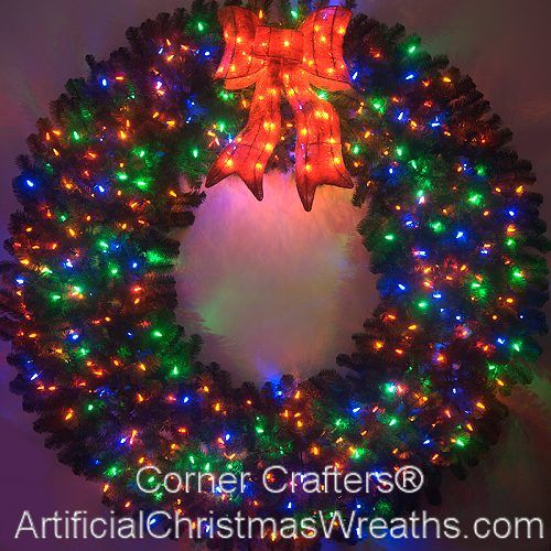 6 Foot Color Changing L E D Christmas Wreath Artificialchristmaswreaths Com 71 Inch Multi Color Lights Free Shipping Commercial Grade Indoor Outd Pre Lit Christmas Wreaths Large Christmas Wreath Outdoor Christmas Garland