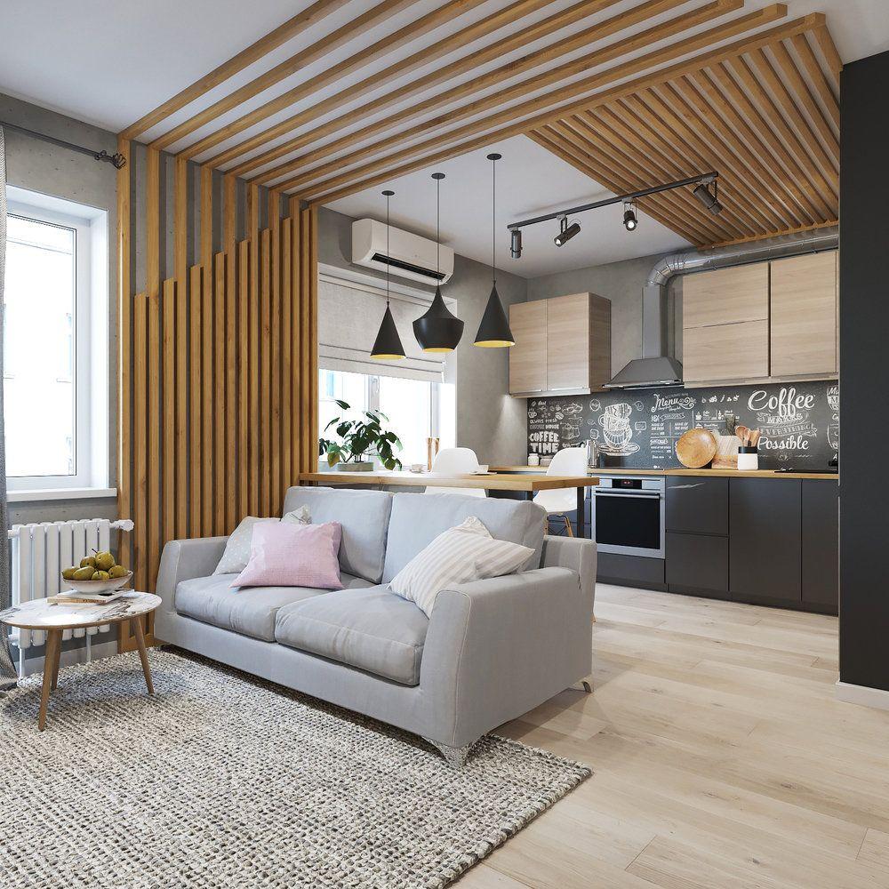 Фотографии - Кухня и столовая в стиле Лофт   Планировки ...