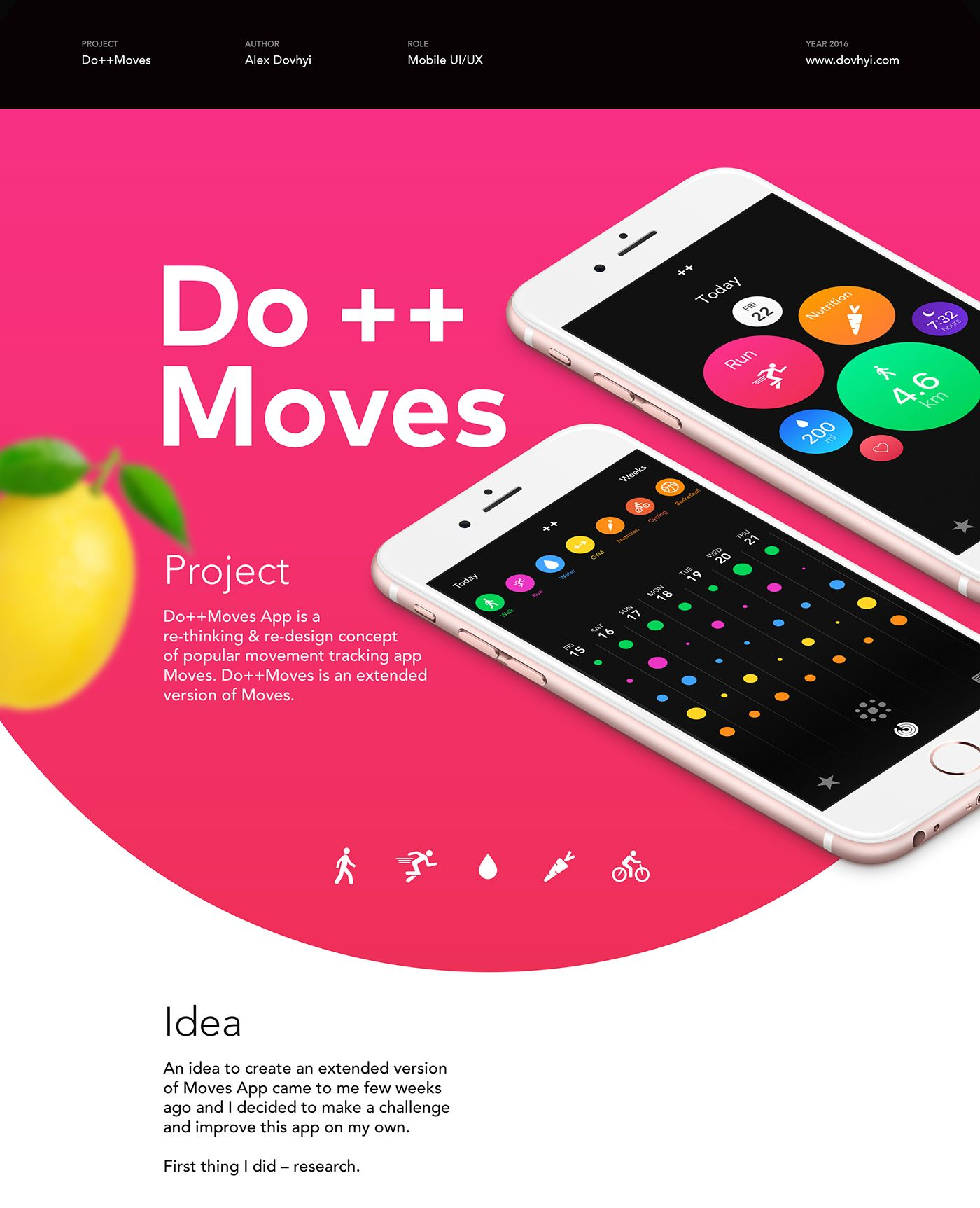 "Consulta este proyecto @Behance: ""Do++Moves: Activity Tracker"" https://www.behance.net/gallery/41226673/DoMoves-Activity-Tracker"