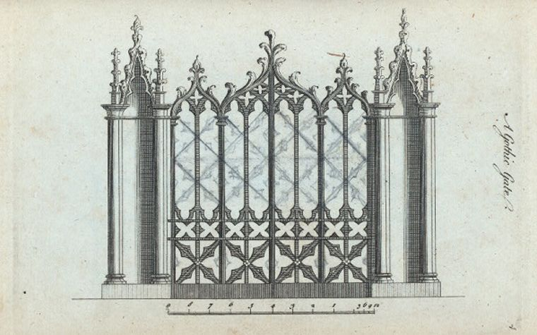 A Gothic Gate 1758 Architecture Drawing Decor Design Gate