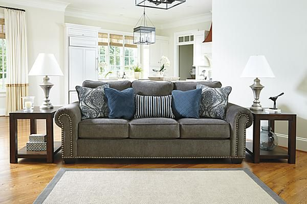 The Navasota Sofa From Ashley Furniture HomeStore (AFHS.com). The  U201cNavasota Charcoalu201d Upholstery Collection Features A Soft Chenille  Upholstery Fabric ...