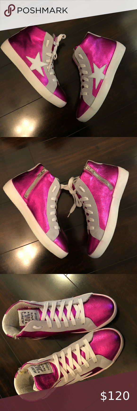 italy leather Star sneakers