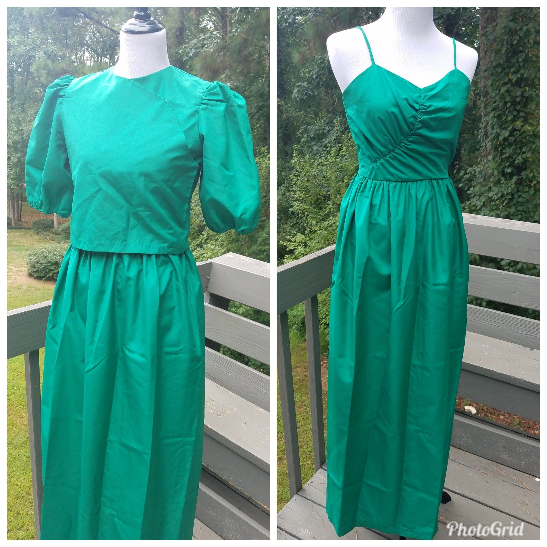 S homecoming dress vintage dessy creations emerald green formal
