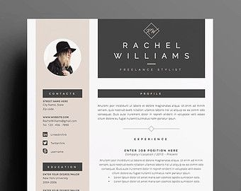 3pk resume cv template cover letter for ms word instant