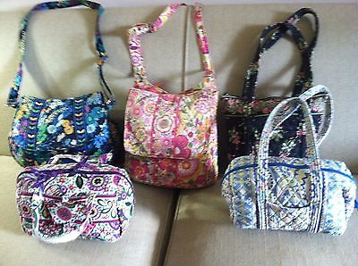 VERA BRADLEY LOT OF FIVE PURSES 2 LARGE 3 MEDIUM PLEASE READ FOR DESCRIPTION! https://t.co/EjJ8zgse91 https://t.co/r0irhEpx57