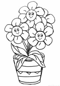 Cicek Boyama Sayfasi Okuloncesitr Preschool Kindergarten Boyama Sayfalari Cicek Suluboya