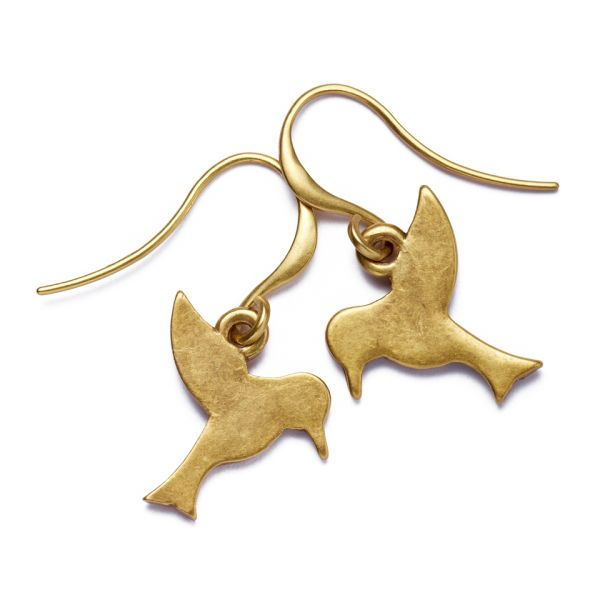Hultquist Hummingbird Earrings - Gold