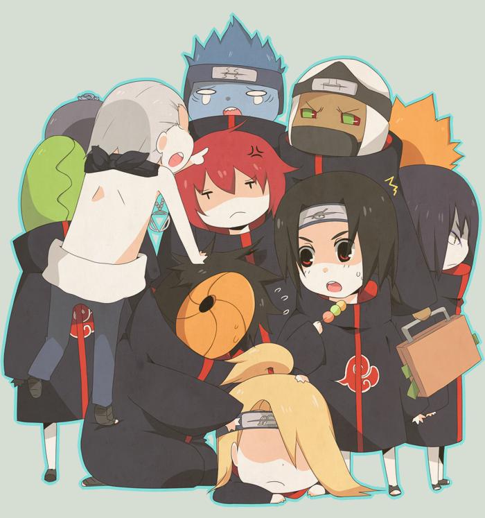 akatsuki chibis   Naruto   Pinterest   So kawaii, Chibi ... Akatsuki Chibi Tobi