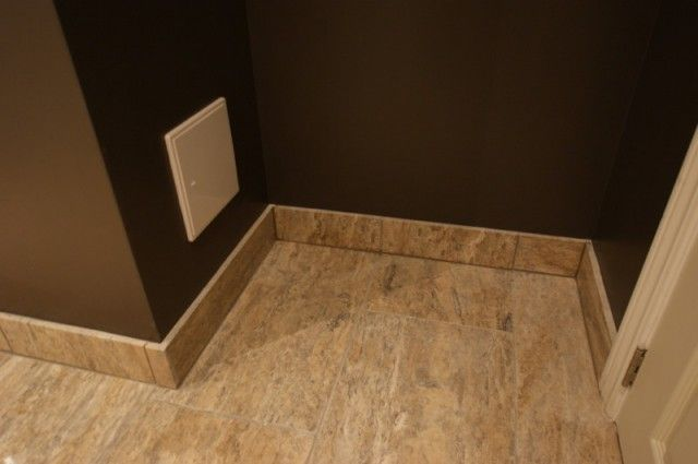 AGGroup Inc Cullen Bathroom Polished Travertine Tile Baseboards