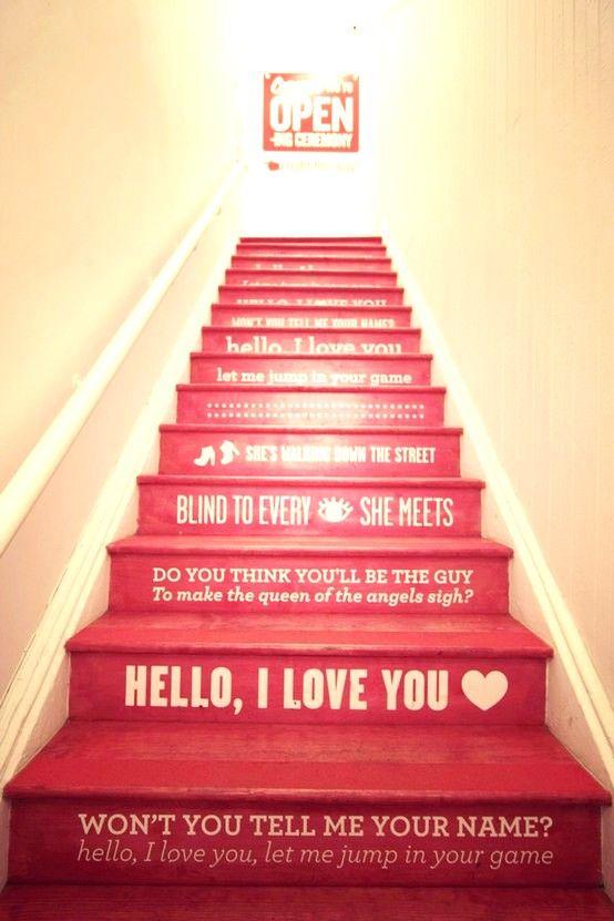 Basteln Valentinstag Ideen rote treppen   Dekoration   Pinterest ...