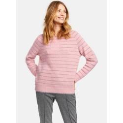 Photo of Flauschiger Pullover mit Glitzer-Streifen Pink TaifunTaifun