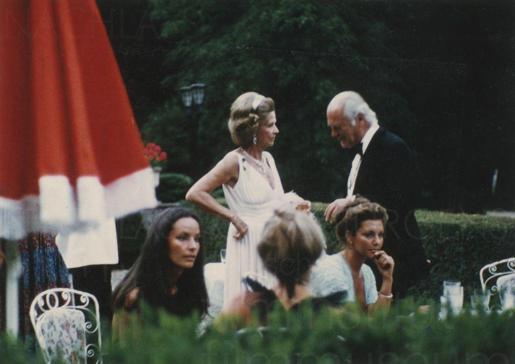 Nachlass Curd Jürgens | Curd und Margie mit Freunden, Ende 1970er Jahre, 8