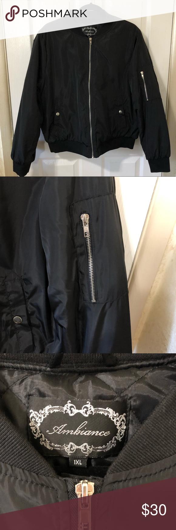 Nwot Ambiance Black Bomber Jacket Black Bomber Jacket Clothes Design Fashion [ 1740 x 580 Pixel ]