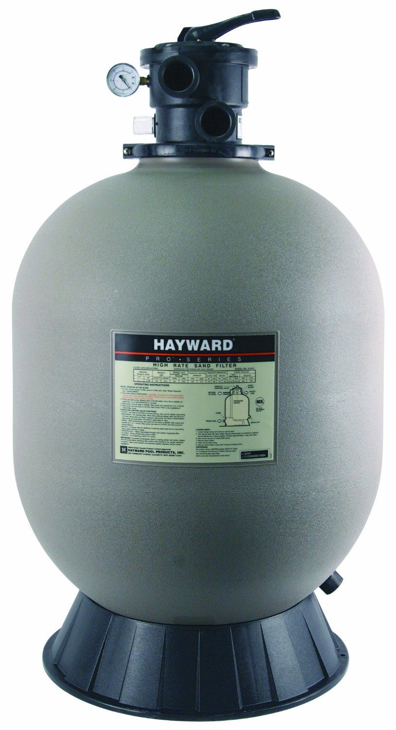 New Deals Hayward S244t Pro Series Top Mount 24 Inch Sand Filter With 1 2 Vari Flo Valve For In Ground Pools