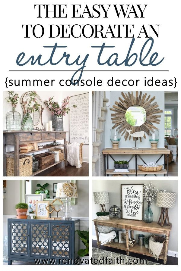 How to Decorate a Console Table Like a Pro (Best Entry Table Ideas) images