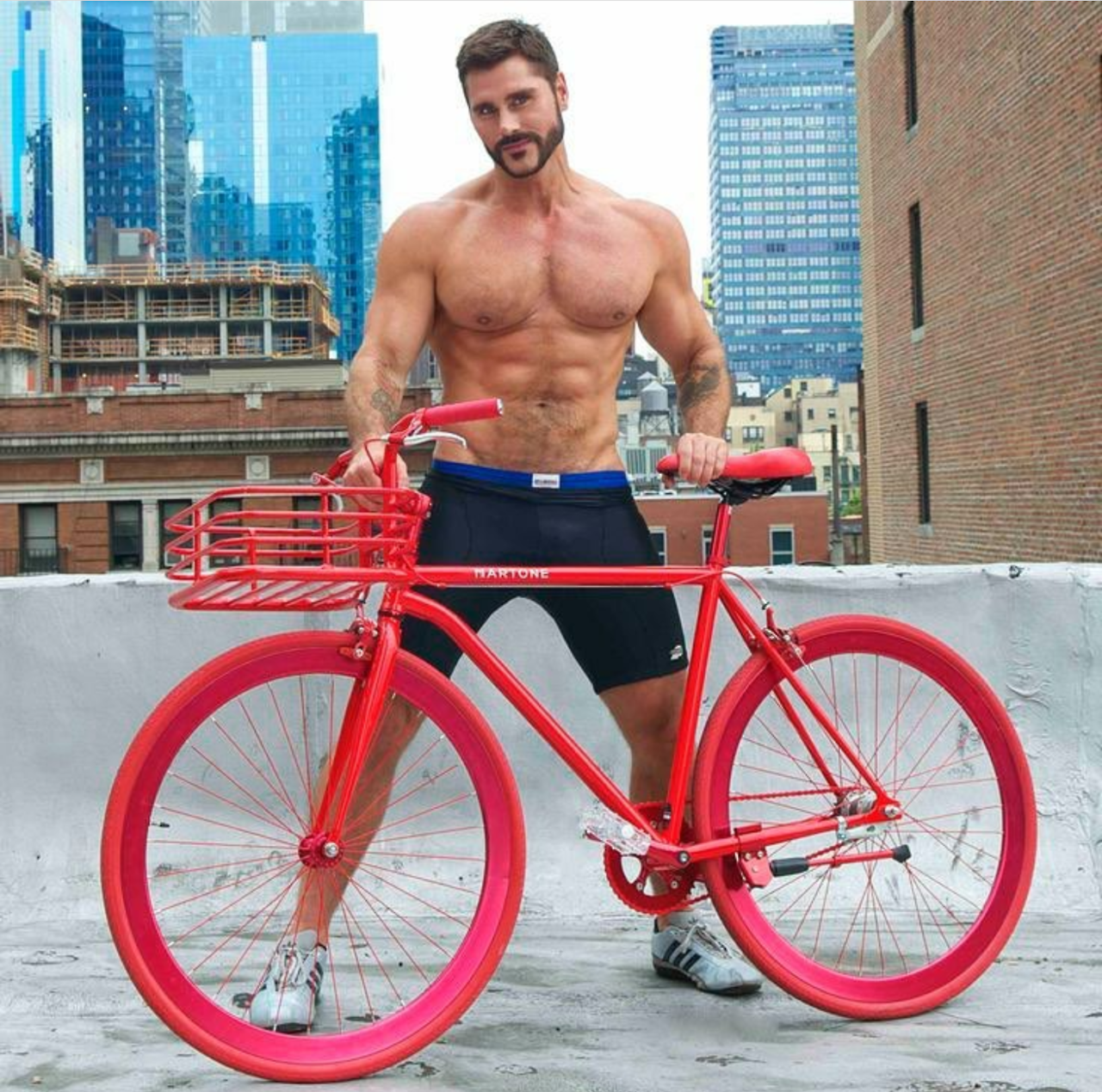 Gay naked bicyclist