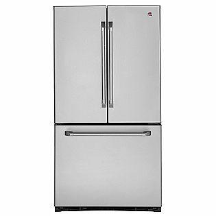 GE Cafe French Door Bottom Freezer Refrigerator. It Has A Hidden Water  Dispenser Inside