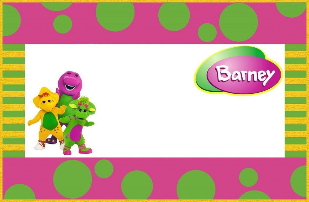 Free Printable Barney the Dinosaur Invitation Template | Henriette ...
