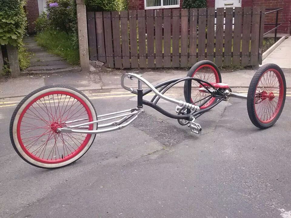 Trike Bicycle Boardtracker Style Handlebar Low Frame Trike