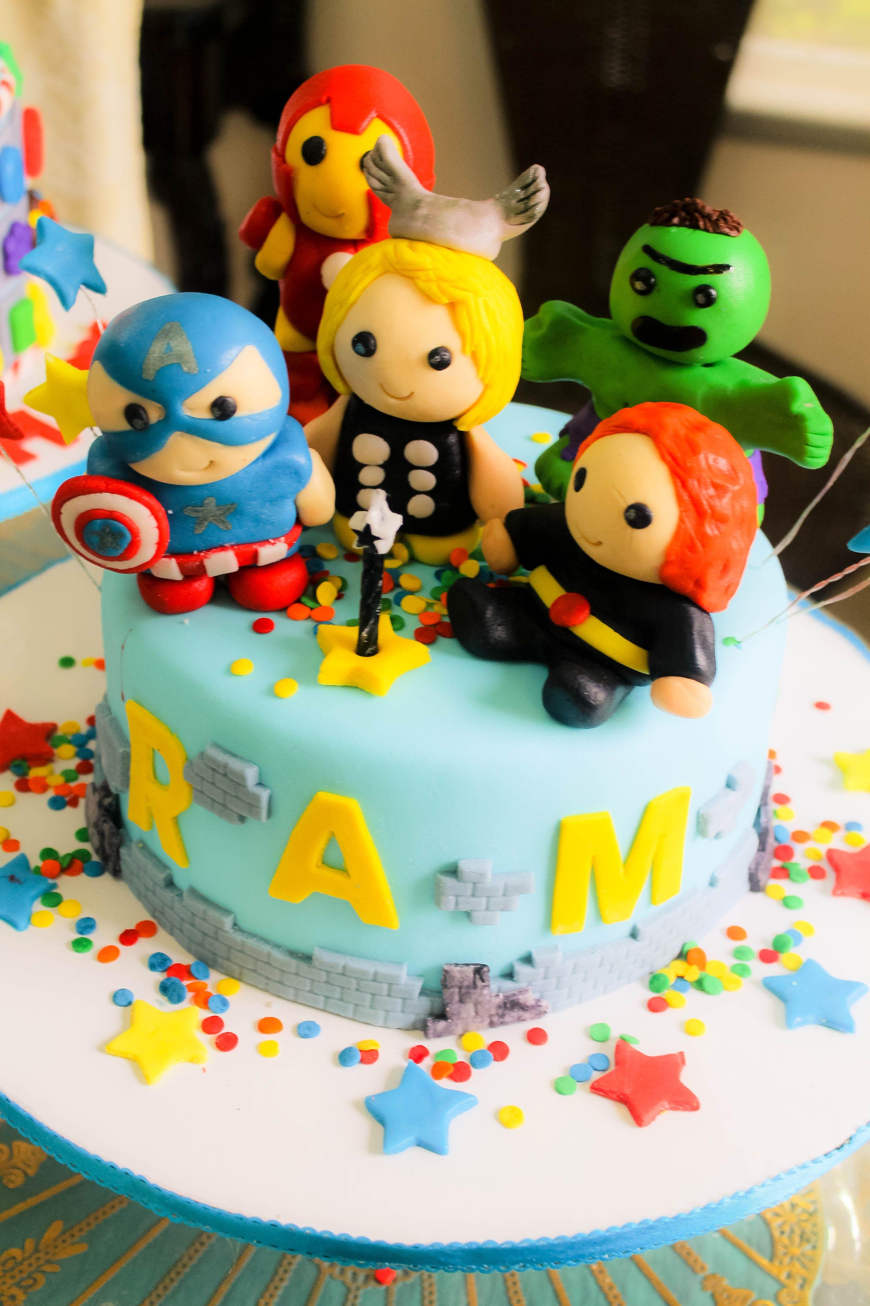 Avengers Chibi Cake Cute Design Diy Idea Party Sweet South