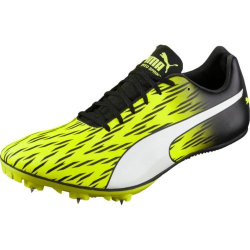 PUMA Men's evoSPEED Sprint 7 Track Shoes Yellow/Black