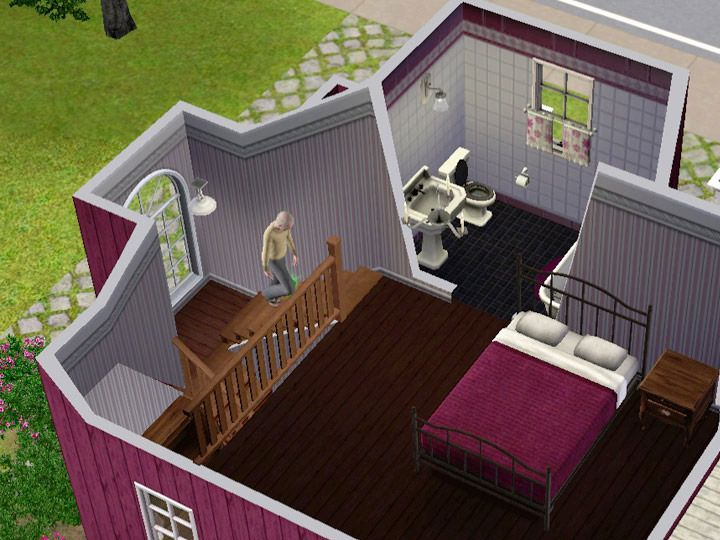 Mod The Sims - Tutorial Split-level stairs u2013 Quick walkthrough - new sims 3 blueprint mode