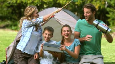 family in tent - Google Search