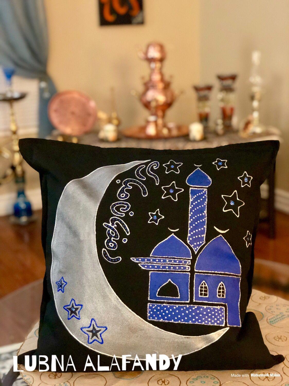 Pillow وسائد كنب كوشات Art Ramadan Vase