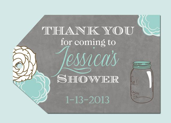 mason jar floral bridal shower favor tags by partypopinvites 800