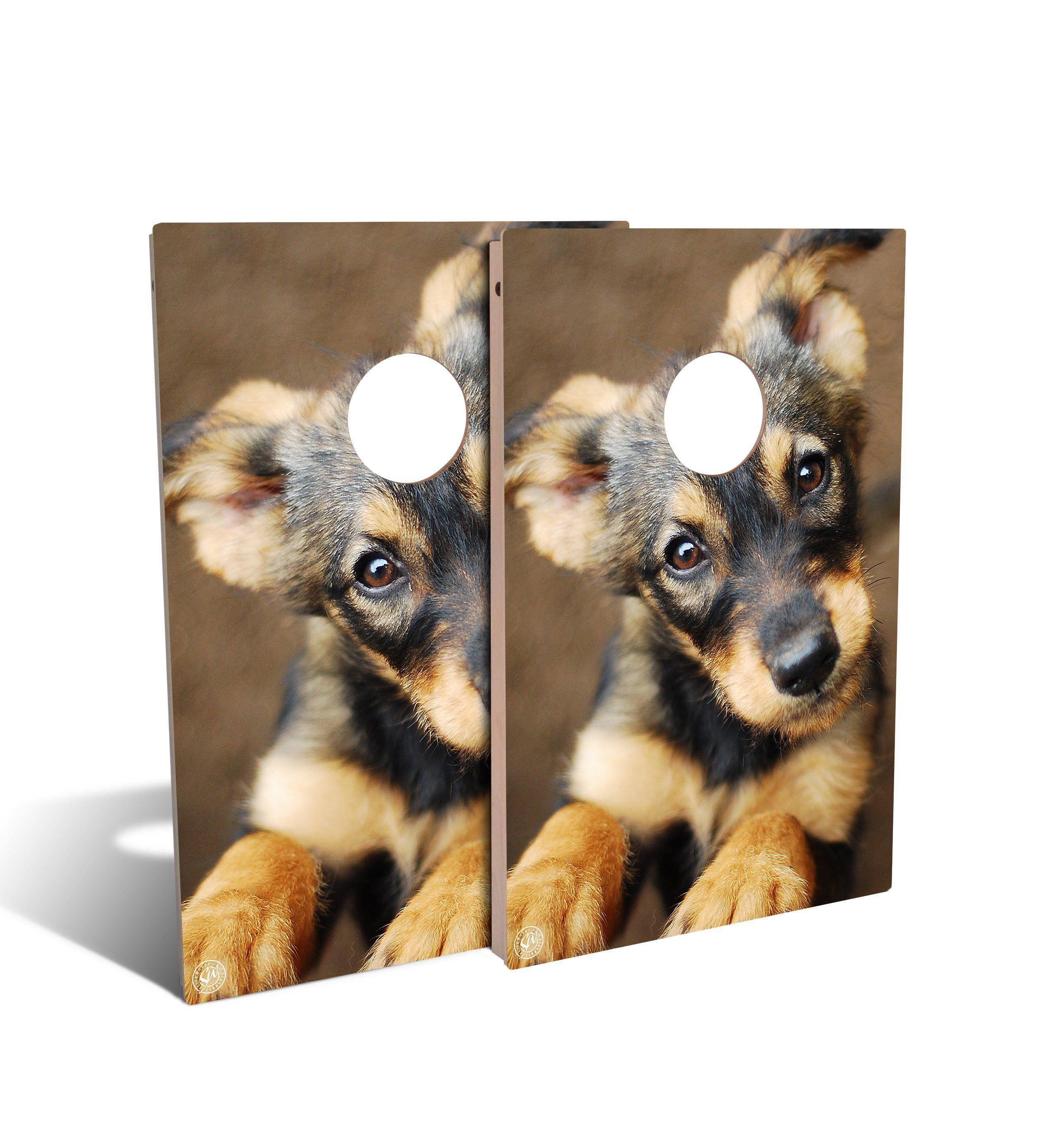 German Shepard Puppy Cornhole Set (includes 8 bags) #germanshepards German Shepard Puppy Cornhole Set (includes 8 bags) #germanshepards