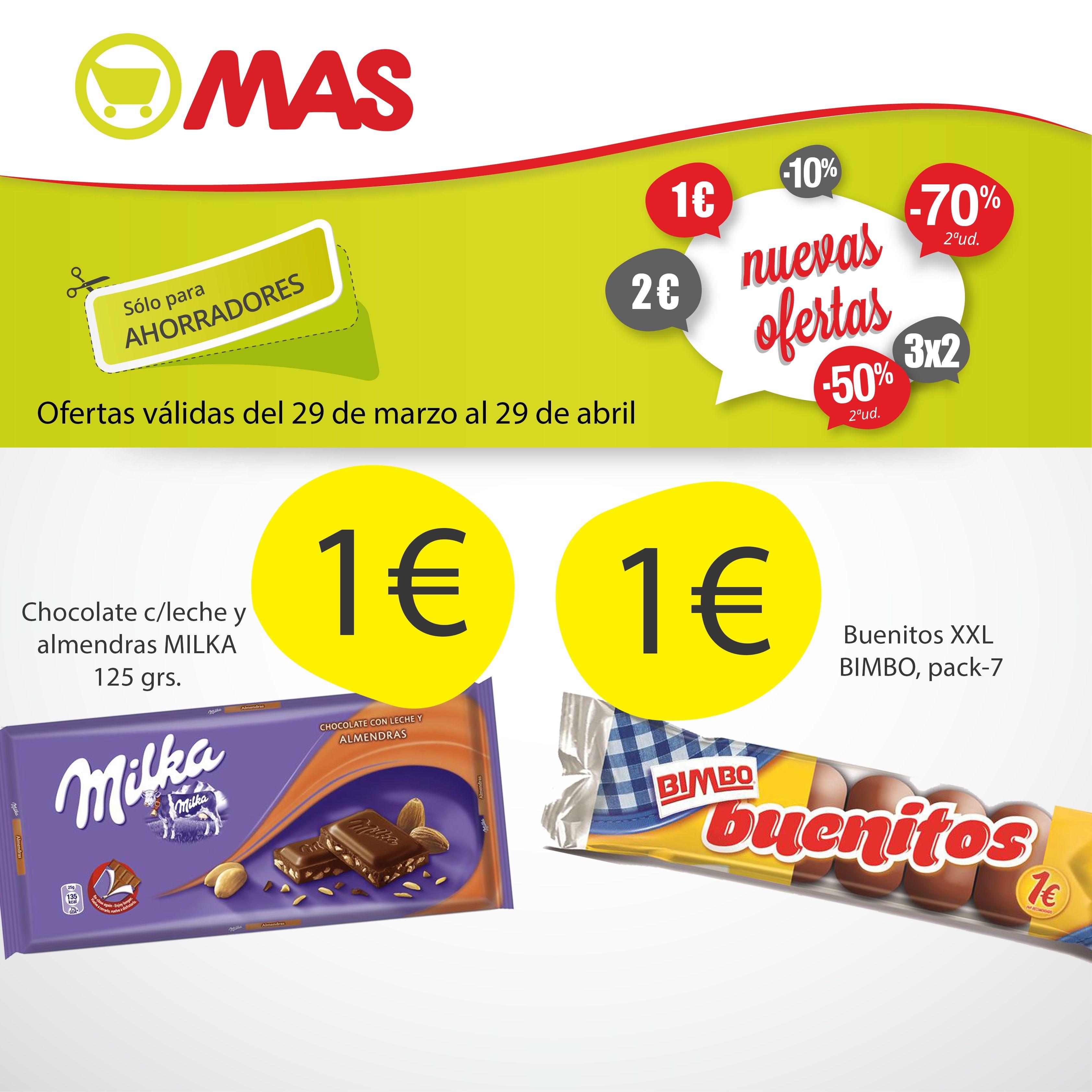 Meriendas De Chocolate En Supermercados Mas Tan Sólo 1 Un Caprichito Que Te Alegrará La Tarde Grs