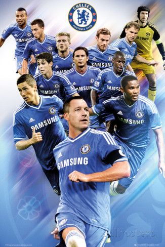 Chelsea Players 2013 2014 Poster Allposters Com Chelsea Players Chelsea Chelsea Football