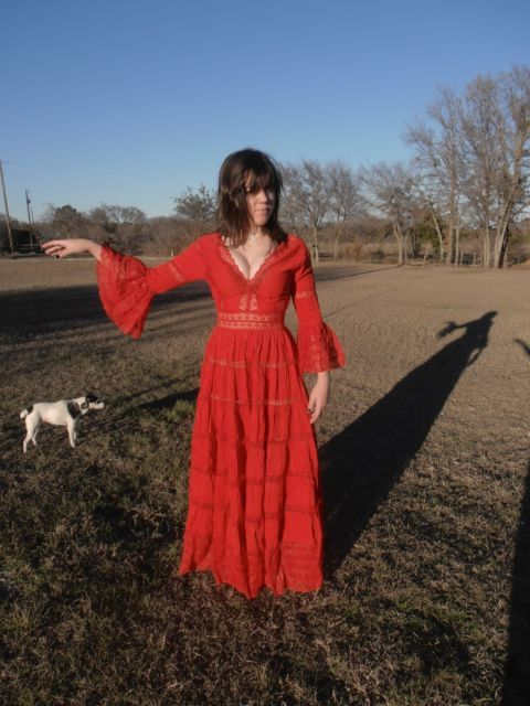 Red mexican wedding dress