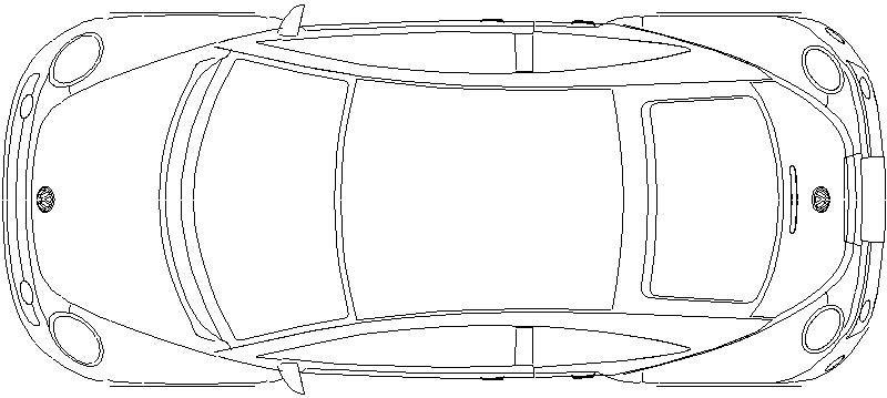 coche  vista en planta  marca  volkswagen  modelo  new